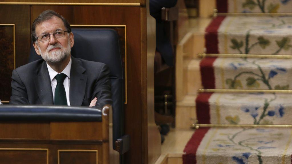 Rajoy en sus últimos minutos como Presidente del Gobierno