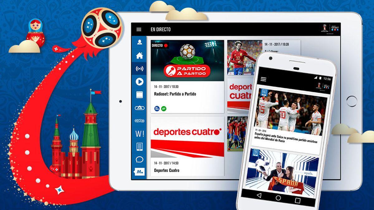 El Mundial de la FIFA de Rusia 2018 también se juega en la app Mediaset Sports