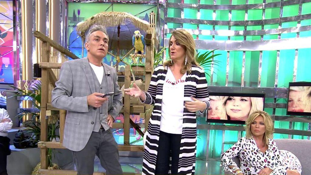 """Kiko Hernández asegura que Terelu le """"escupió un chicle"""" a una persona con quien trabajó en Telemadrid"""
