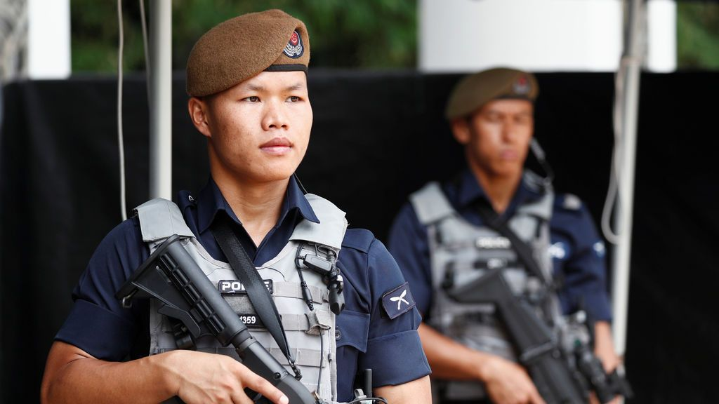 Puesto de control en Singapur