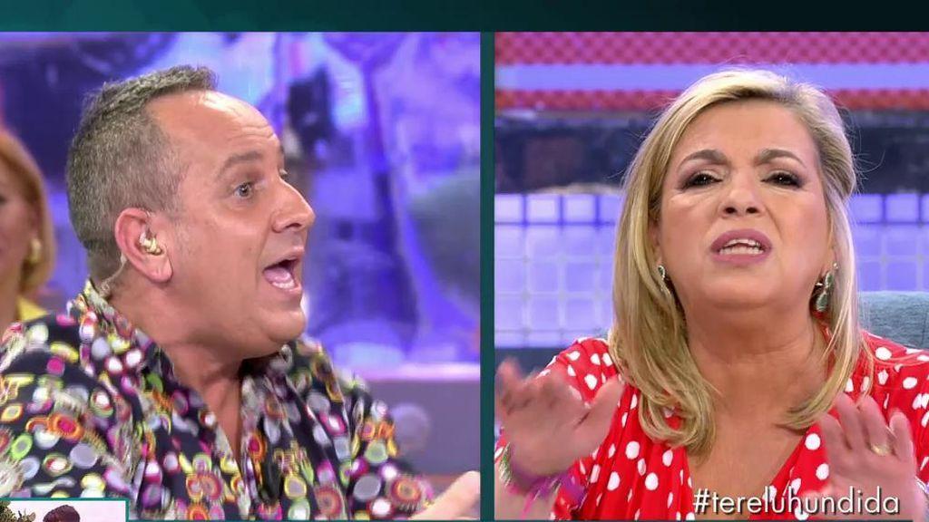 """Carmen Borrego y Patiño le paran los pies a Víctor Sandoval: """"Gilipolleces no voy a contestar"""""""