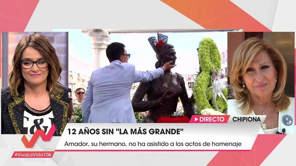 """Rosa Benito, rota: """"Agradezco a Amador que no haya venido al homenaje de Rocío para que venga yo"""""""
