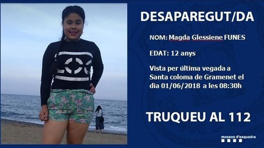 Buscan a una menor desaparecida en Santa Coloma de Gramenet, en Barcelona