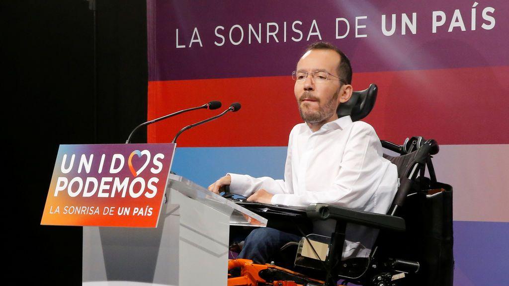 """Echenique insiste en un Gobierno de coalición PSOE-Unidos Podemos para """"afrontar los retos que quedan por delante"""""""