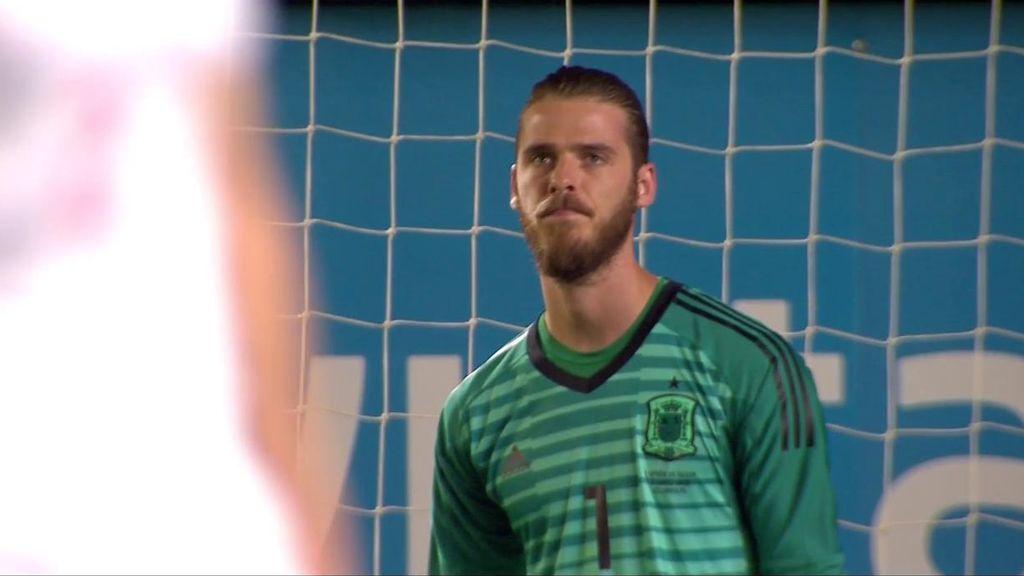 Error imperdonable de De Gea que aprovecha Rodríguez para empatar el partido (1-1)