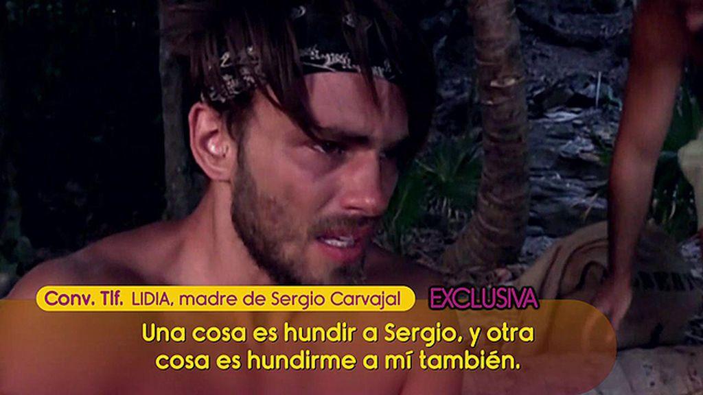 """La madre de Sergio Carvajal arremete contra todos: """"Lo que se ha dicho le va a hacer un daño increíble"""""""