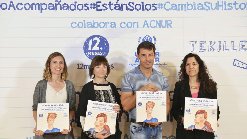 Jesús Vázquez en la campaña de ACNUR