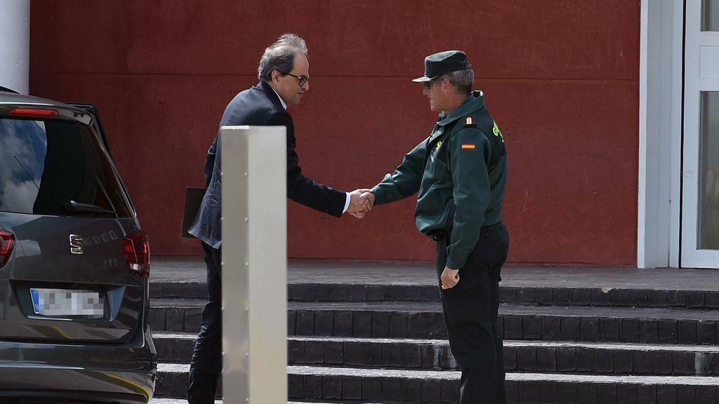 Torra visita de nuevo a los exconsejeros presos tras la toma de posesión del nuevo Govern