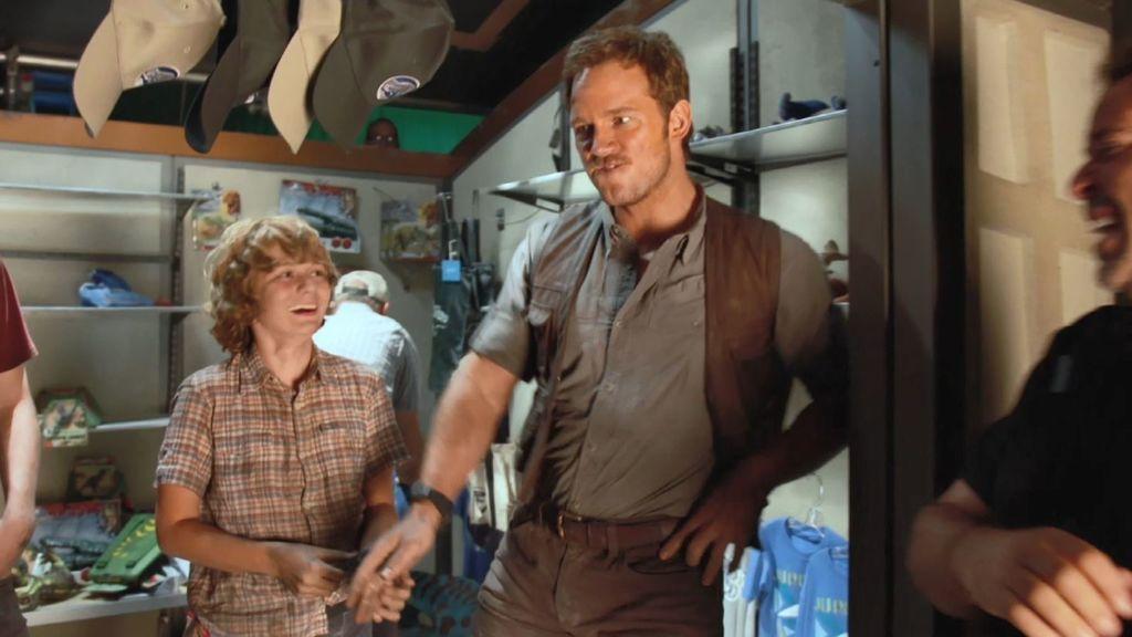 El show de Chris Pratt durante el rodaje de 'Jurassic World'