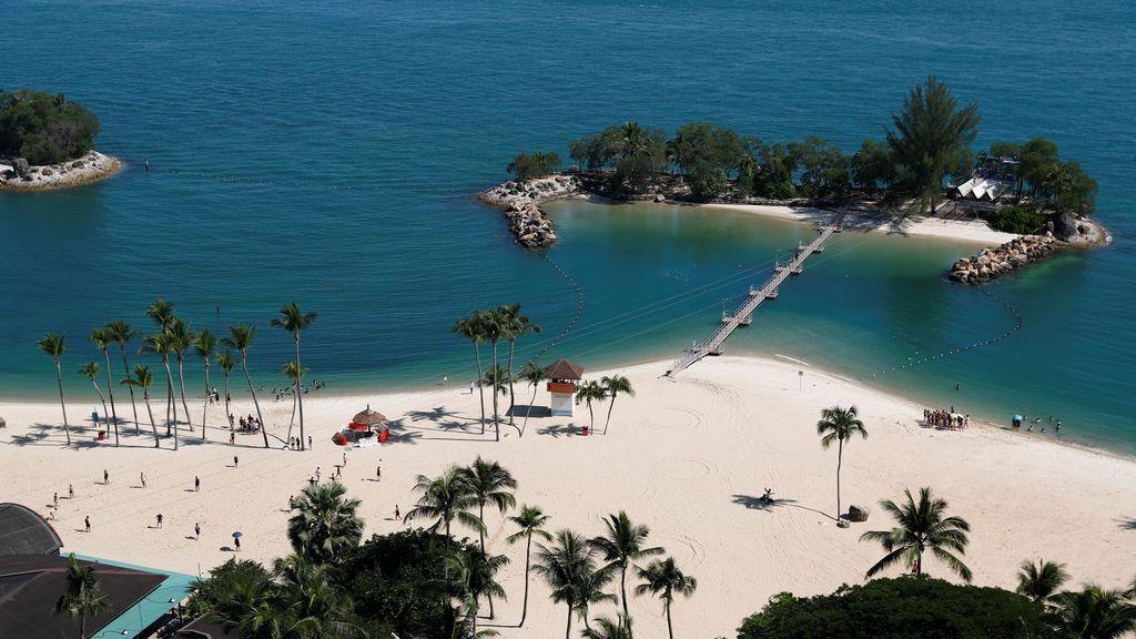 Playa aradiasiaca de Singapur