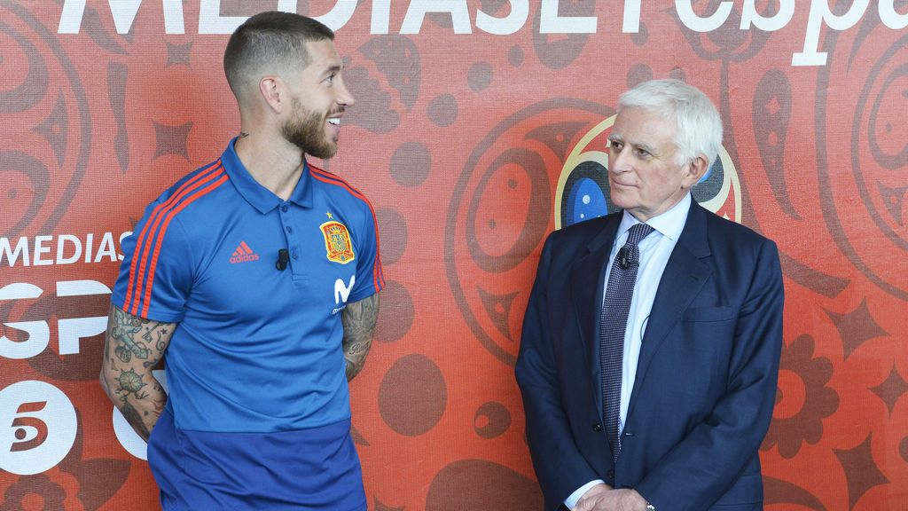Sergio Ramos y Paolo Vasile