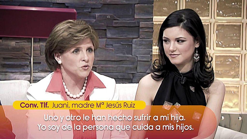 """La madre de Mª Jesús Ruiz, contra los colaboradores de 'Sálvame' : """"¡Qué poca dignidad de personas!"""""""