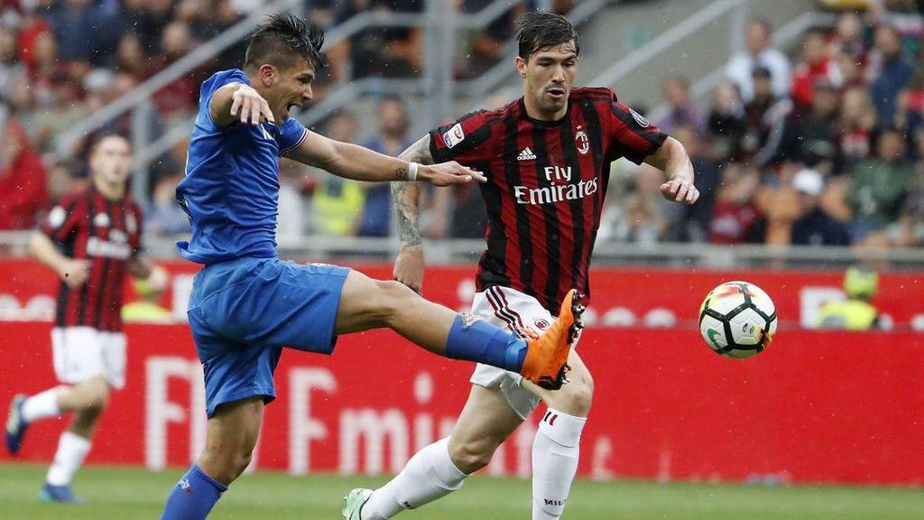 Imagen del partido de la Serie A italiana disputado el 20 de mayo de 2018 entre el Milan y la Fiorentina que acabó con un 5-1.