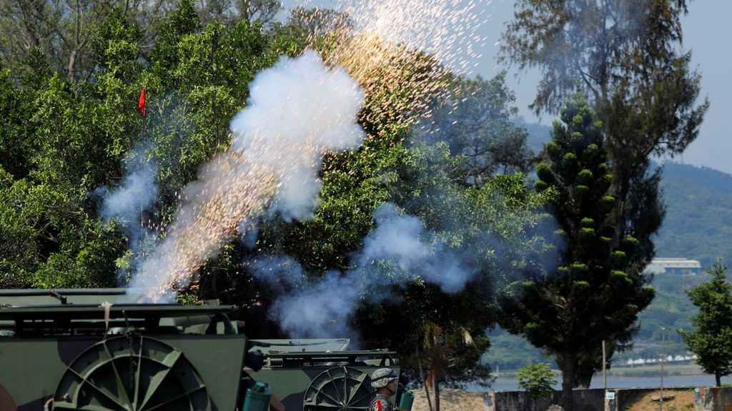 Simulacro militar en Taiwán