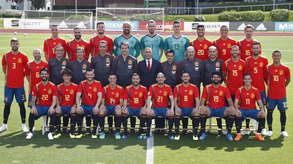 Una foto para soñar con todo en Rusia: España se hace la foto oficial del Mundial
