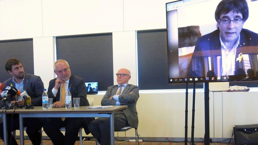 Puigdemont y los exconsejeros demandan al juez Llarena ante la justicia belga