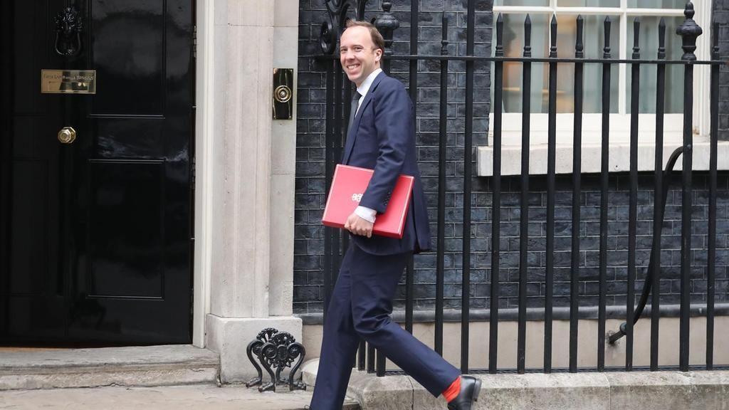El ministro de Cultura, Medios de Comunicación y Deportes de Reino Unido, Matthew Hancock, a su llegada a la reunión del Gobierno de Theresa May celebrada el 5 de junio de 2018 en Londres.
