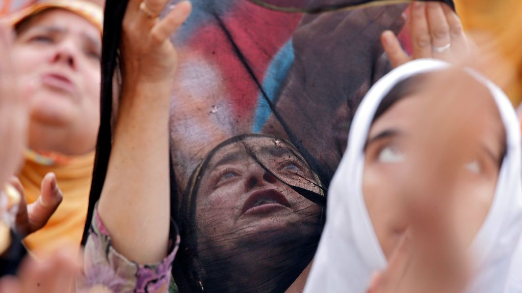 Veneración de una reliquia musulmana en India