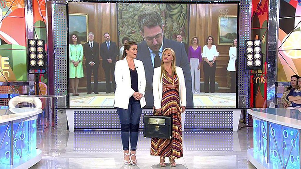 Belén Esteban también tiene su cartera ministerial en 'Sálvame'