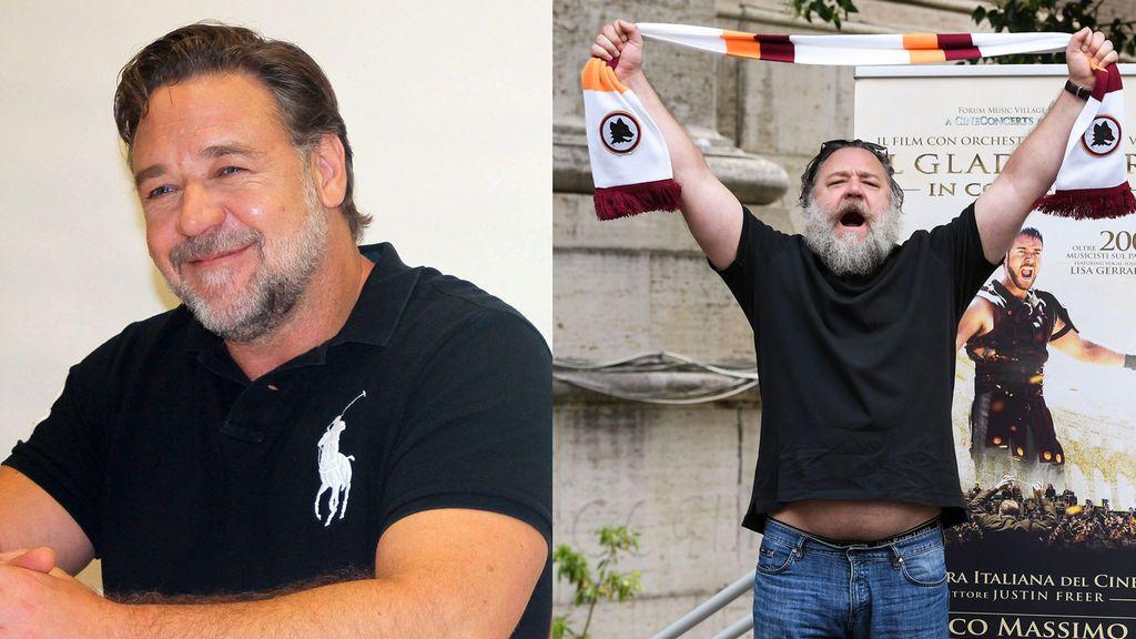 Russell Crowe, reaparece totalmente irreconocible
