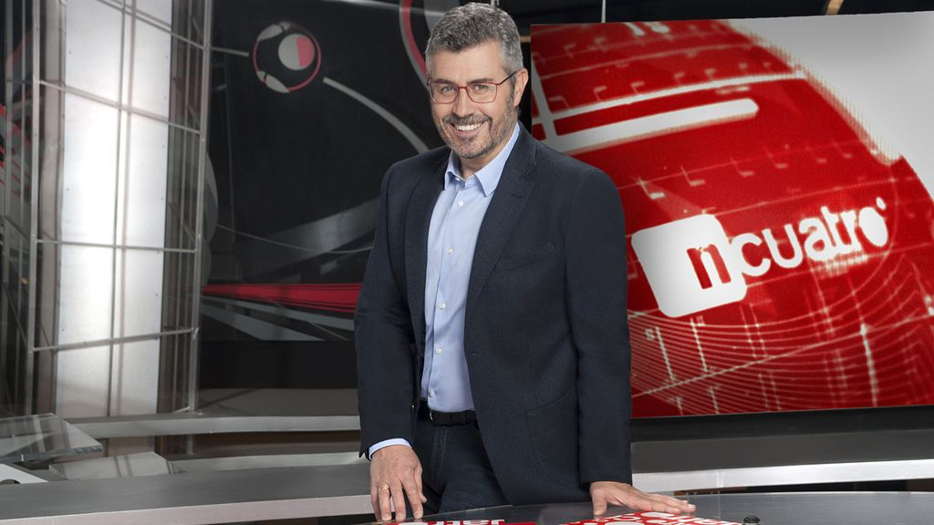 Miguel Ángel Oliver, en el plató de 'Noticias Cuatro'.