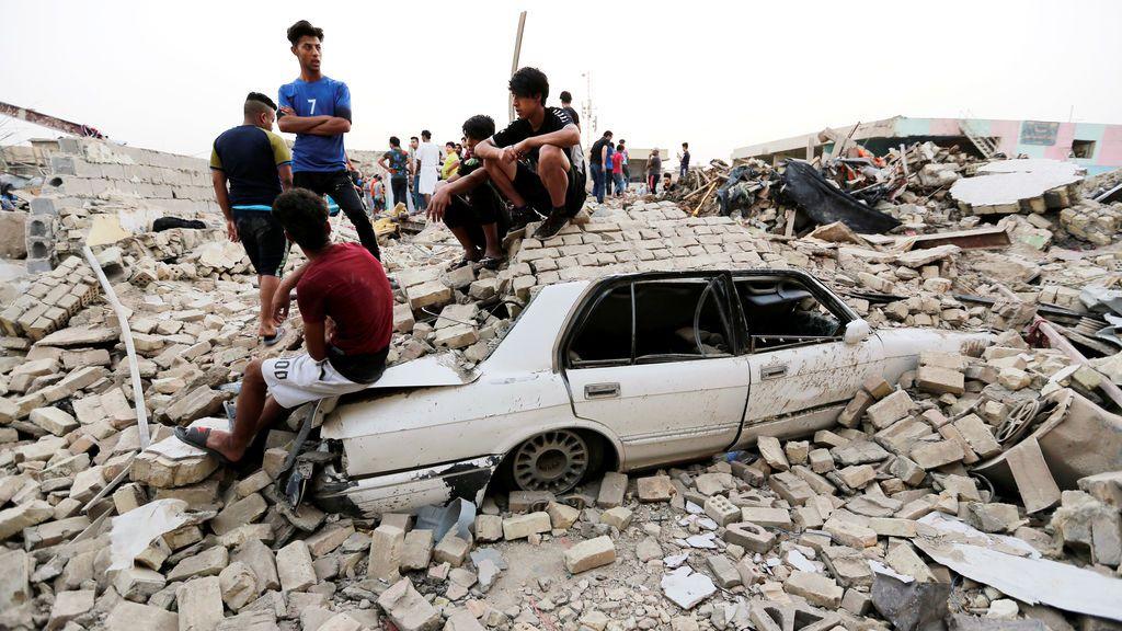 Consecuencias de una explosión en Irak