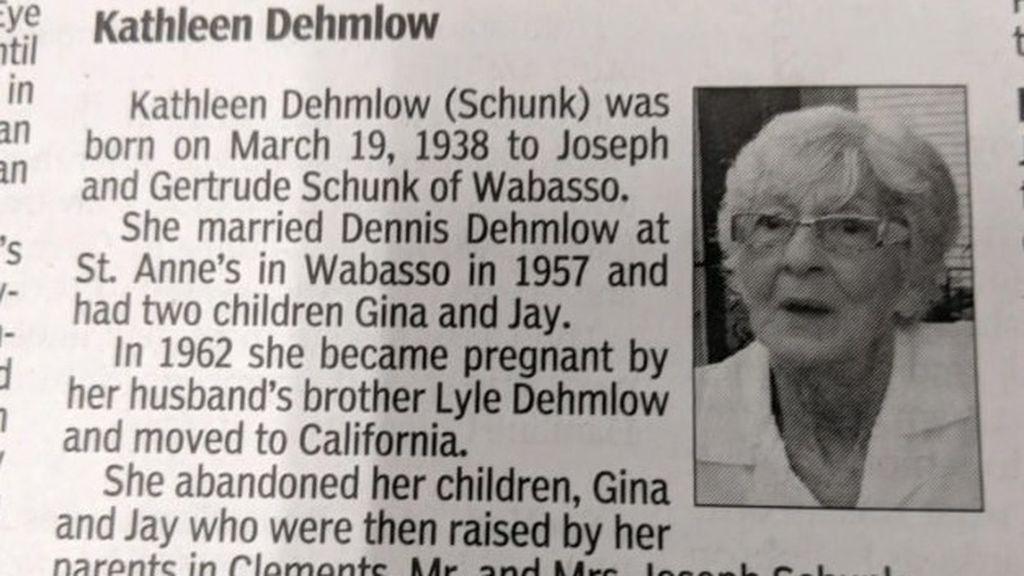 obituario esquela mujer abandona hijos periodico