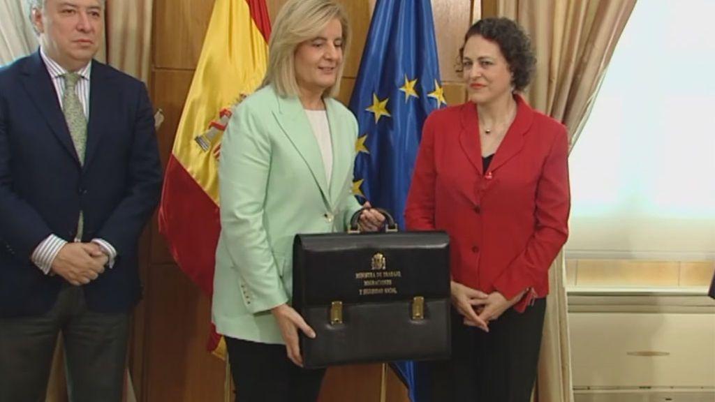 Magdalena Valerio, nueva ministra de Trabajo,  Migraciones y Seguridad Social, recibe la cartera de Fátima Báñez