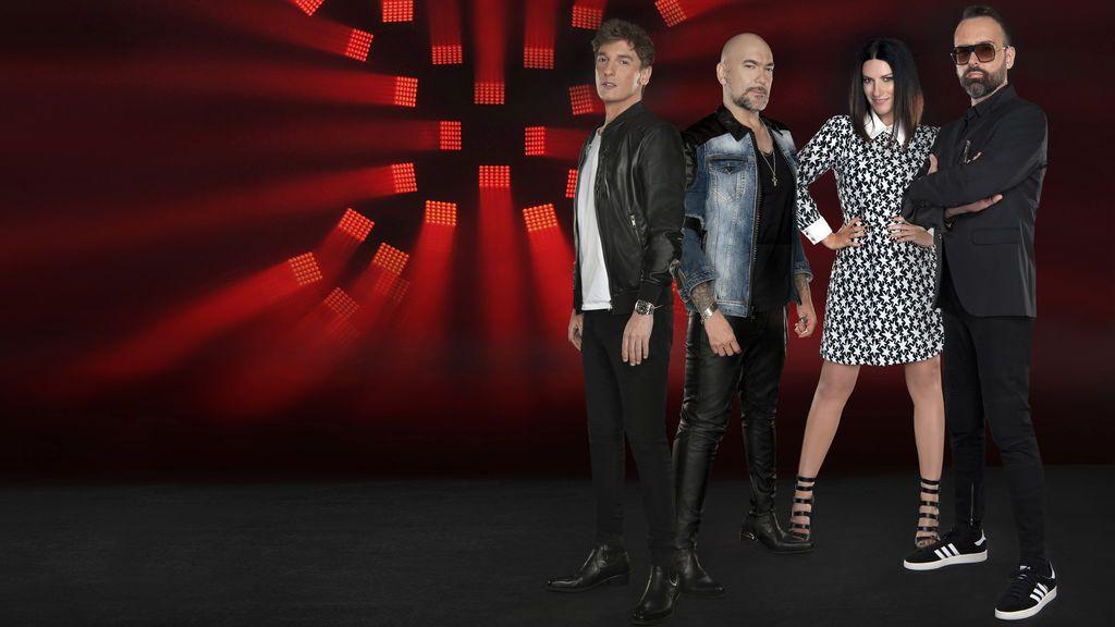Xavi Martínez, Fernando Montesinos, Laura Pausini y Risto Mejide, jurado de 'Factor X'.