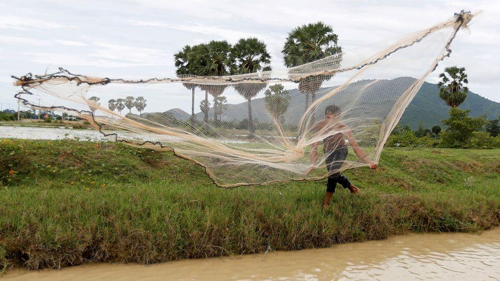 Técnicas de pesca en Camboya
