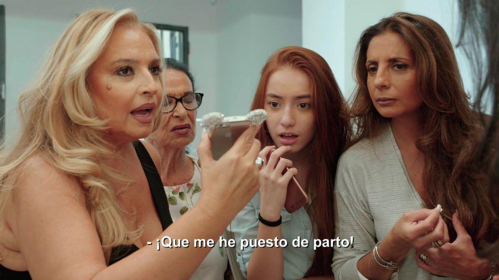 Las Muñoz reciben un notición en pleno showroom con las Salazar: ¡Débora se pone de parto!
