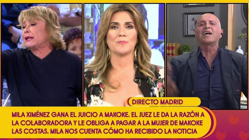 """Fuerte discusión entre  Kiko Matamoros y Mila Ximénez: """"La víctima es mi mujer y la agresora, tú"""""""