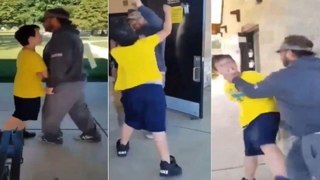 División en las redes por el vídeo en el que un hombre estampa a un niño contra el suelo