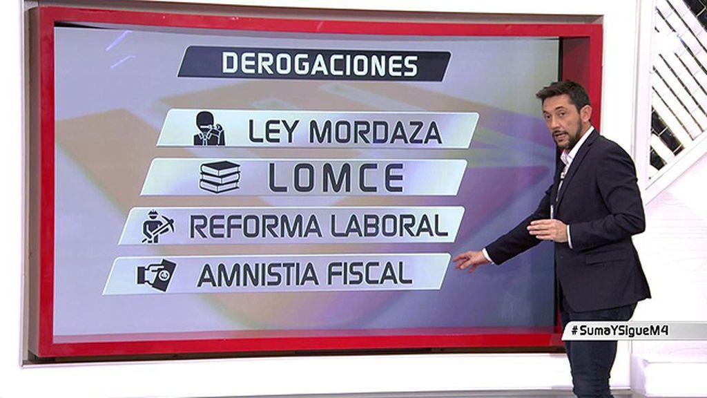 Análisis LM4: Lo que el gobierno de Sánchez pretende derogar y aprobar
