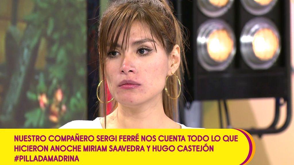 """Miriam Saavedra niega que tuviera una cita con Hugo Castejón: """"Ni hubo tonteo, ni nada"""""""