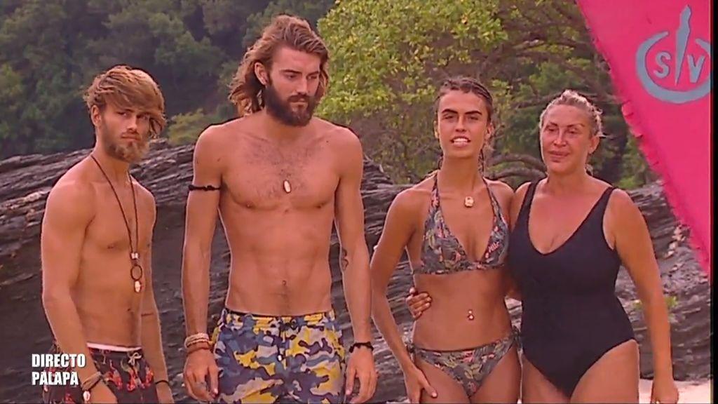 Sergio Carvajal, Logan Sampedro, Sofía Suescun y Raquel Mosquera, finalistas de 'Supervivientes 2018'.