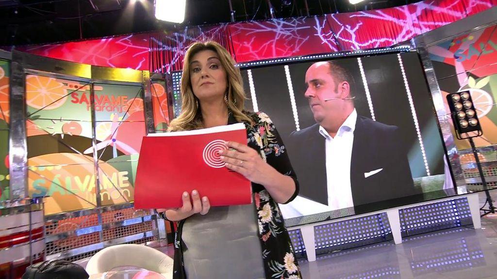 """Carlota Corredera contesta al novio de Mª Jesús Ruiz: """"Tenemos una carpeta con las pruebas de tus deslealtades"""""""