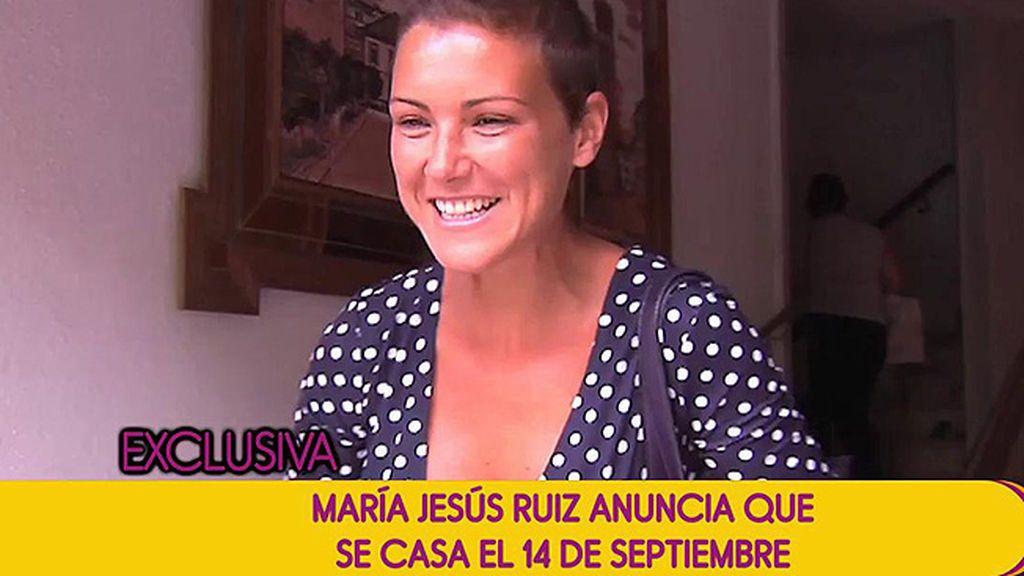 Mª Jesús Ruiz ya tiene fecha de boda: ¡Se casa el 14 de septiembre!