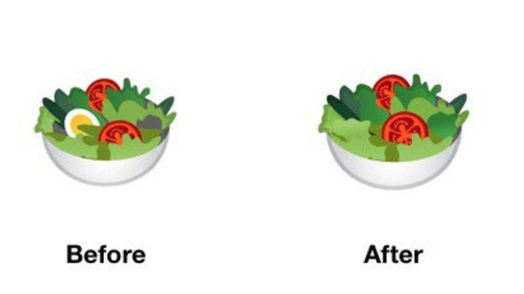 """Google elimina el huevo en el emoji de la ensalada para promover la """"inclusión y la diversidad"""""""