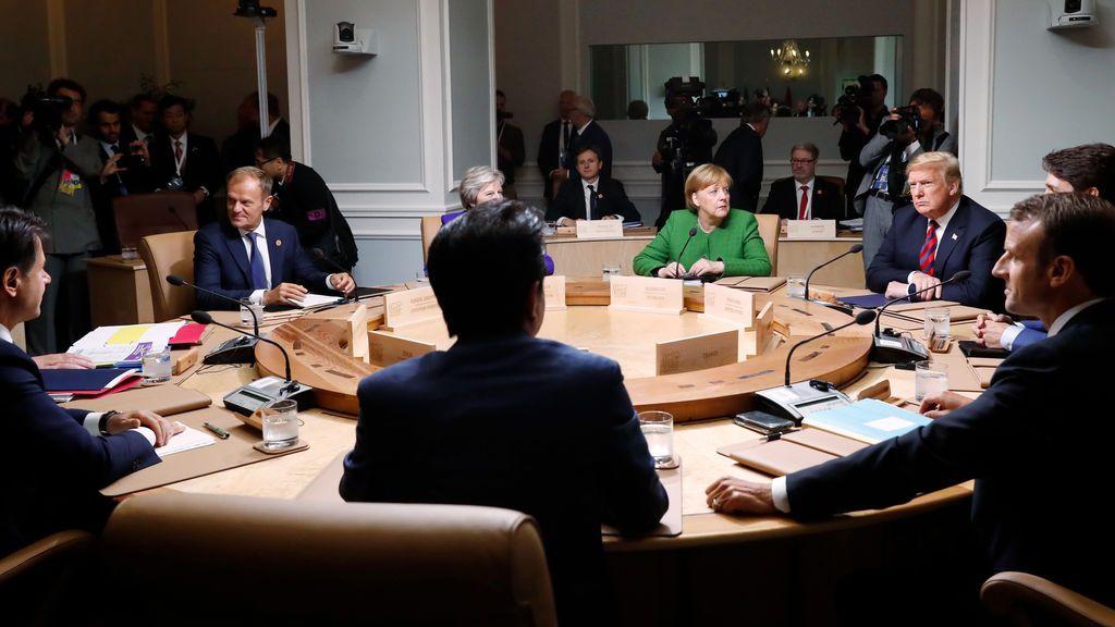 Pocos avances a la vista en la cumbre del G-7, a pesar de los acercamientos de Trump