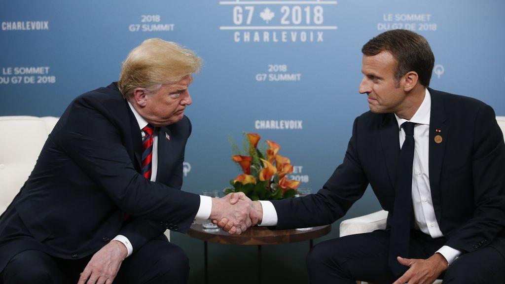"""La cumbre del G7: Trump y Macron mantienen una reunión """"productiva"""""""