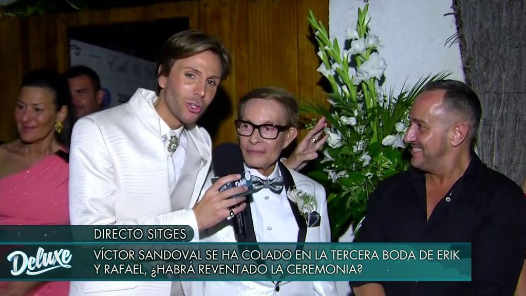 ¡No hay dos sin tres! Erik Putzbach y Rafael celebran por tercera vez su matrimonio y Víctor Sandoval se cuela en directo