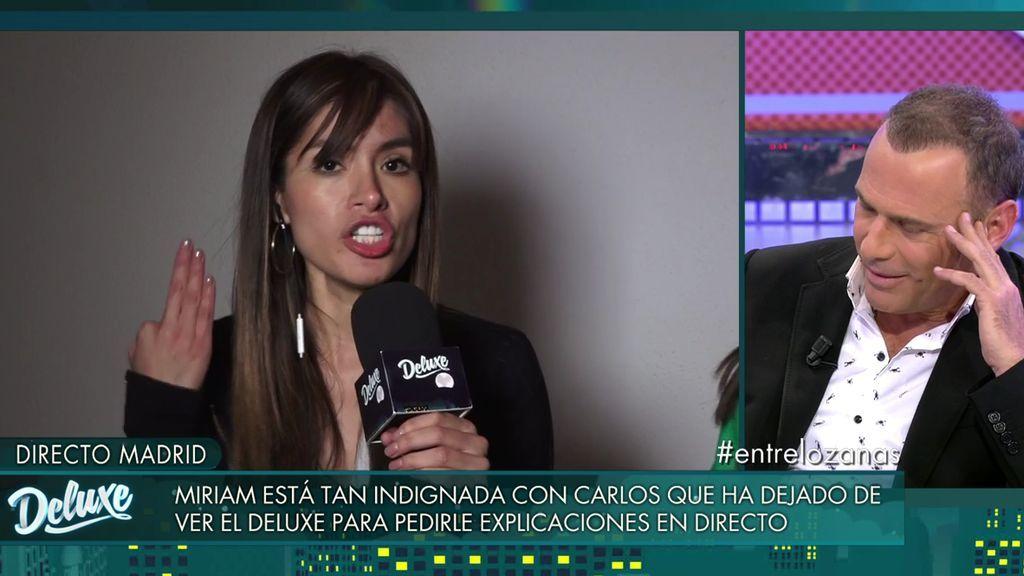 Tensión entre Carlos Lozano y Miriam Saavedra: Su peor enfrentamiento, completo