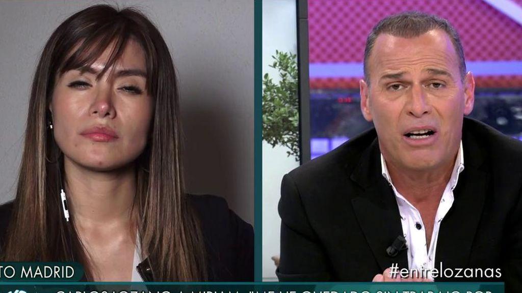 """Carlos Lozano, roto ante el ataque de Miriam:  """"No todo vale en televisión. Hay una cosa que se llama dignidad"""""""