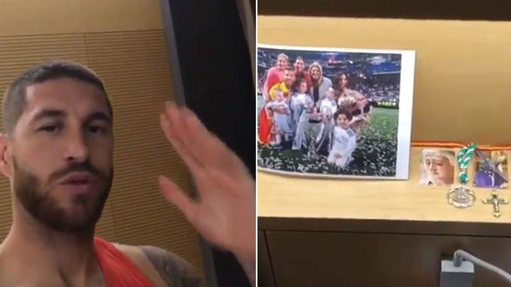 Sus hijos, Pilar Rubio, crucifijos, un peluche... Sergio Ramos desvela los secretos de su habitación en el Mundial a ritmo de Alejandro Sanz