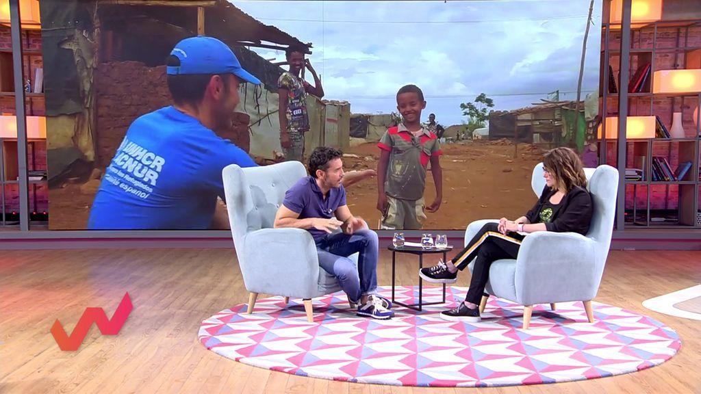 Jesús Vázquez, embajador de los refugiados en 'Viva la vida'