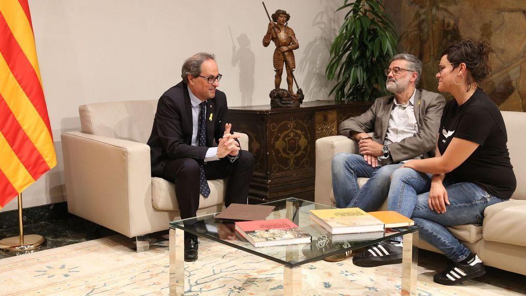 """Quim Torra garantiza a la CUP que no renuncia """"a nada"""" y promete un proceso constituyente"""