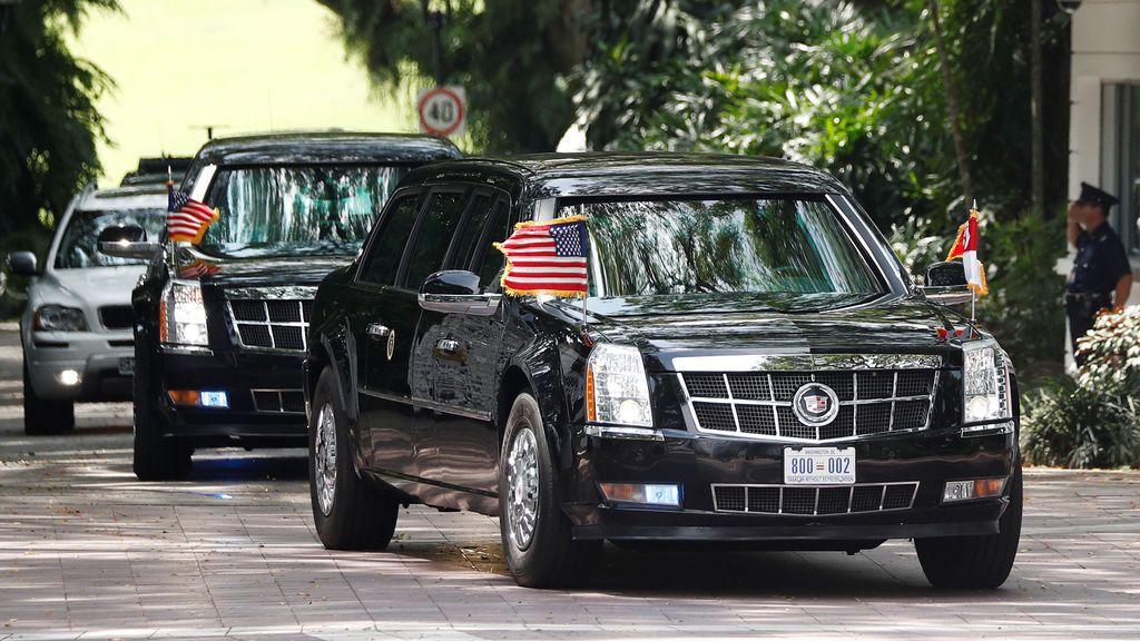 Donald Trump llega a Singapur
