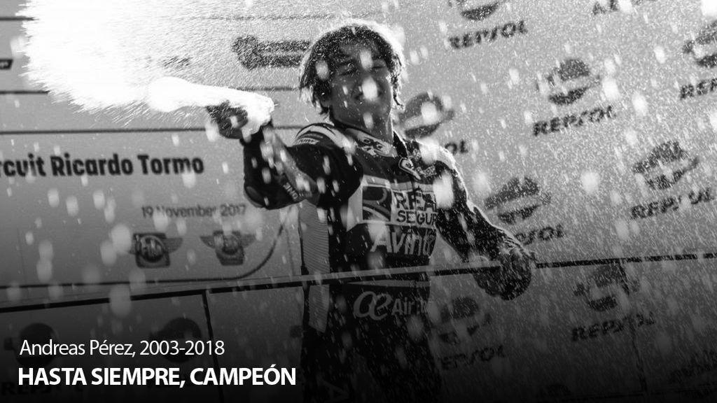 Andreas Pérez, piloto español de 14 años, muere tras sufrir un grave accidente en Montmeló