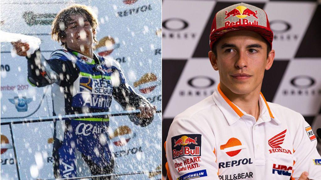 Márquez despide a Andreas Pérez, el piloto de 14 años que soñaba con ser como él